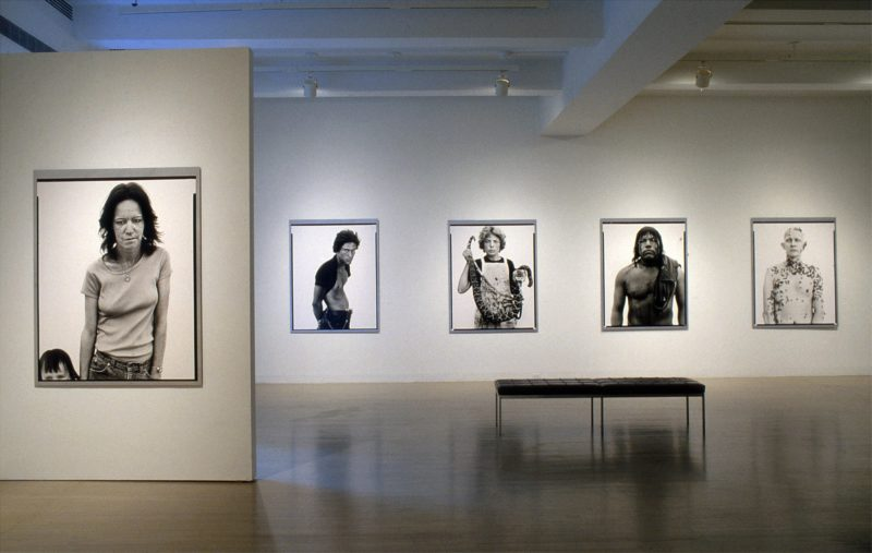 Richard Avedon - Installation view, In the American West, 1979-1984, Pace Gallery, Nov 21, 1985–Jan 11, 1986