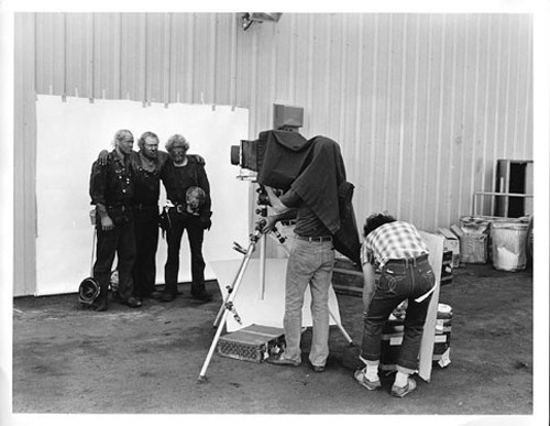 Richard Avedon at work for American West