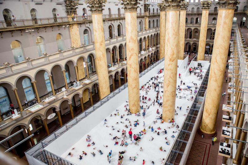 Snarkitecture - The Beach, installation view, National Building Museum, Washington, DC, 2015