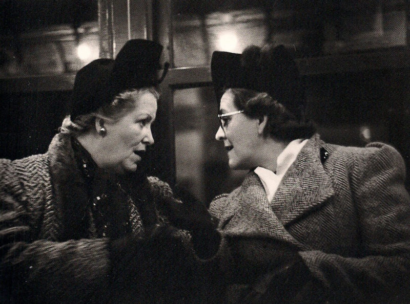 Walker Evans – Subway Passengers, New York City - Two Women in Conversation, January 27, 1941, from Many Are Called