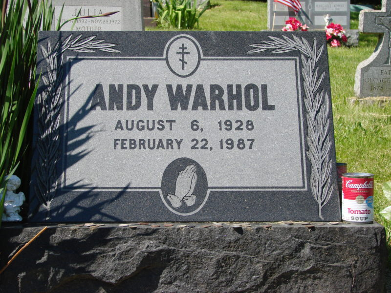 Andy Warhol's grave, Pittsburgh 123 Bethel Park, St John the Baptist Cemetery