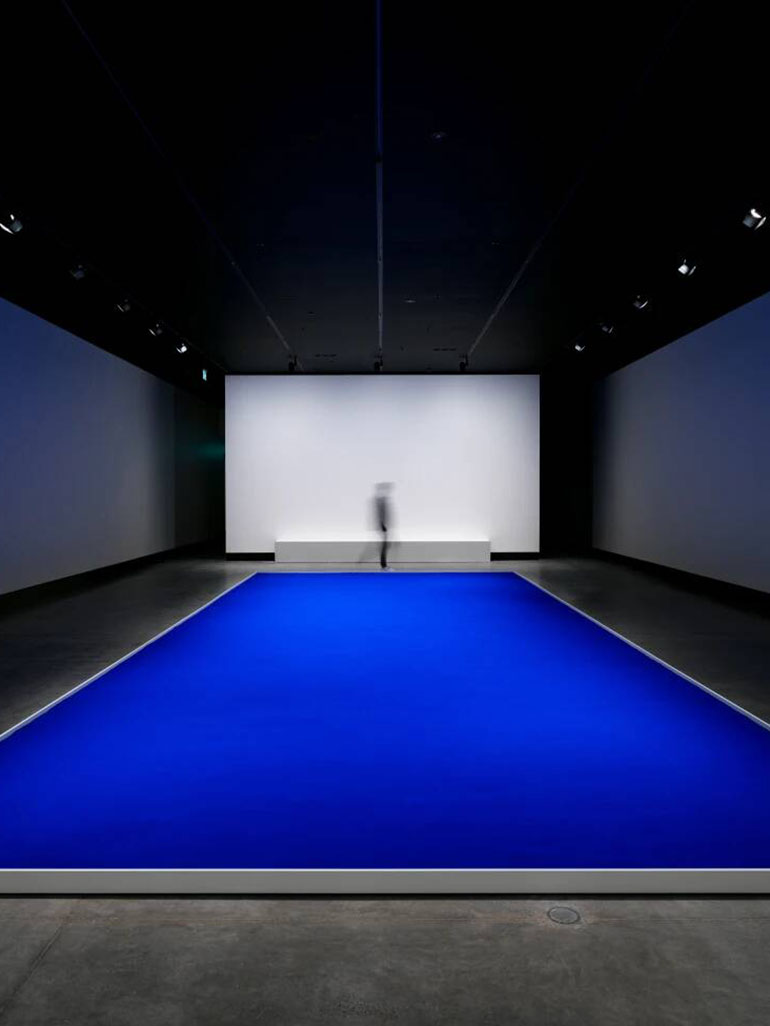 Yves Klein's blue swimming pool - Held down by gravity