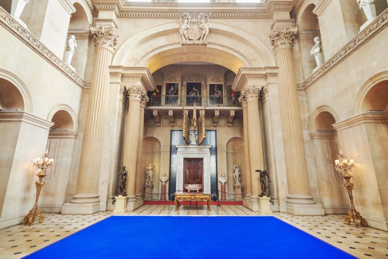 Yves Klein - Pigment bleu sec (Dry Blue Pigment), 1957, recreated in 2018, Installation view, Blenheim Palace, 2018