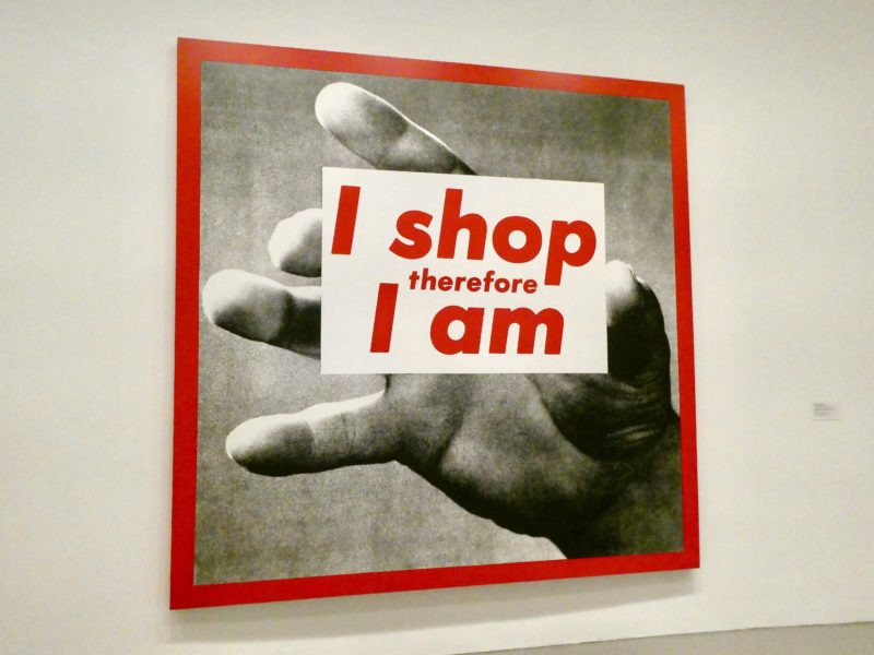 Barbara Kruger – I shop therefore I am, 1987, installation view, Hirshhorn Museum