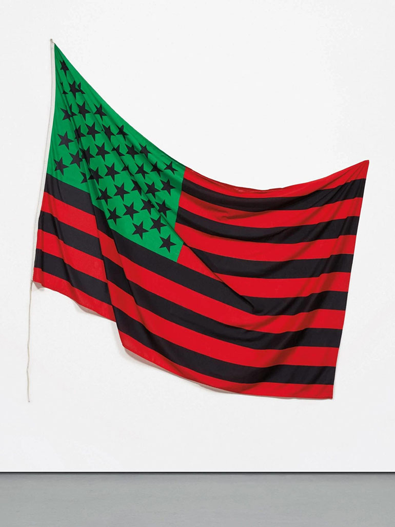 Why did David Hammons create the African-American Flag?