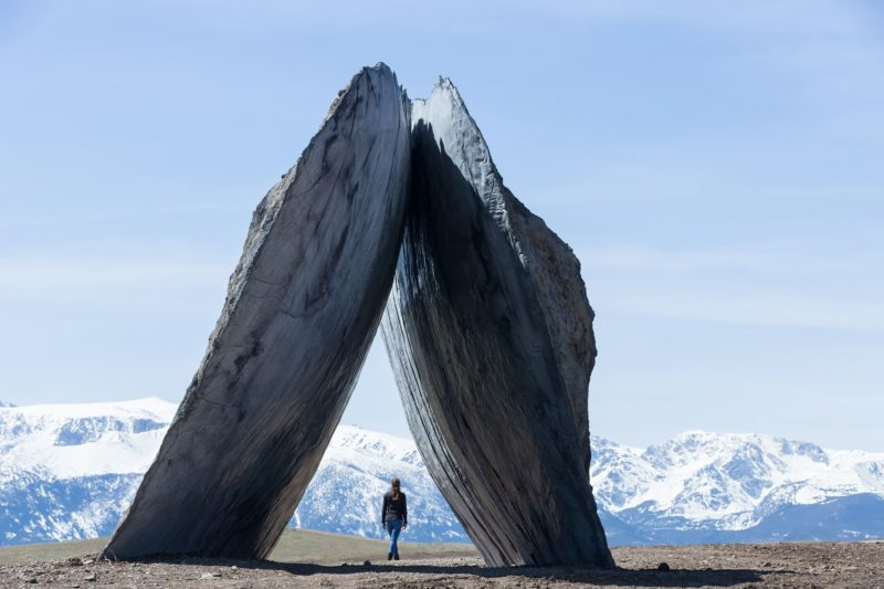 Ensamble Studio - Inverted Portal, Structures of Landscape, Tippet Rise Art Center, Fishtail, Montana, 2015, Iwan Baan