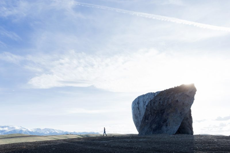 Ensamble Studio - Inverted Portal, Structures of Landscape, Tippet Rise Art Center, Fishtail, Montana, 2015
