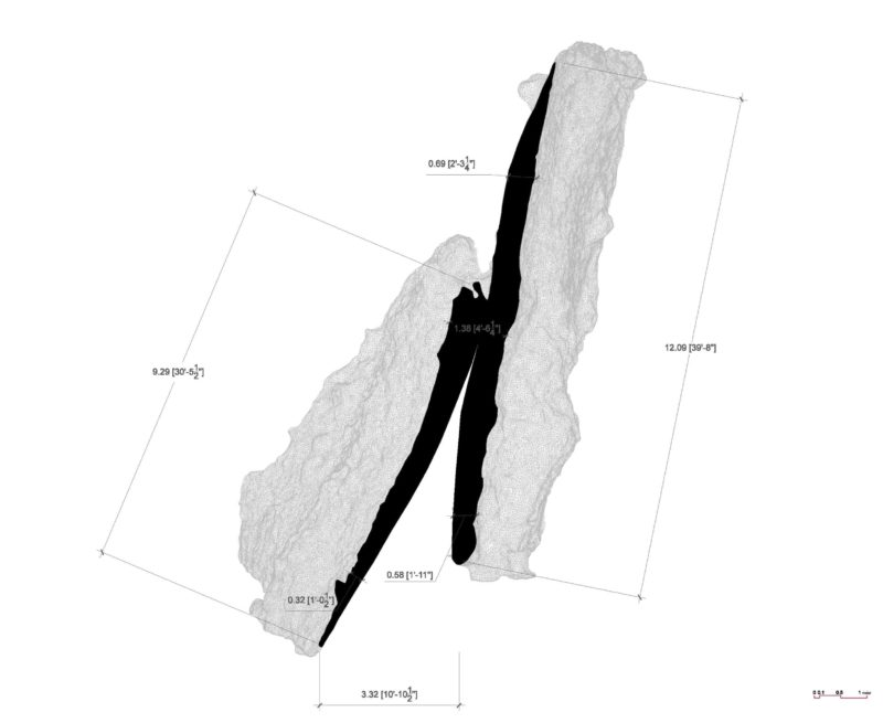 Ensamble Studio - Inverted Portal, Structures of Landscape, Tippet Rise Art Center, Fishtail, Montana, 2015, plan