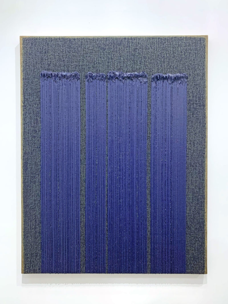 Ha Chong-Hyun - Conjunction 19-14, 2019, oil on hemp cloth, 146 x 112 cm )57 1/2 x 44 1/8 in), Almine Rech