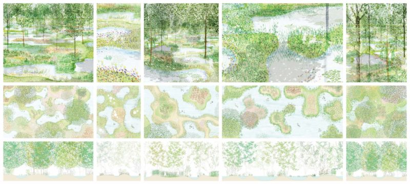 Junya Ishigami - Water Garden, 2018, Nasu Mountains, Tochigi Prefecture, Japan, impressions, plan, section