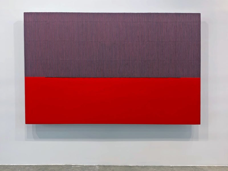 Park Seo-Bo - Ecriture No. 080704, 2008, mixed media with Korean hanji paper on canvas, 165 x 260 cm, Kukje Gallery