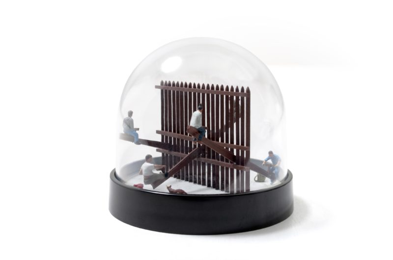 Rael San Fratello - A conceptual snow globe rendition of the Teeter-Totter Wall