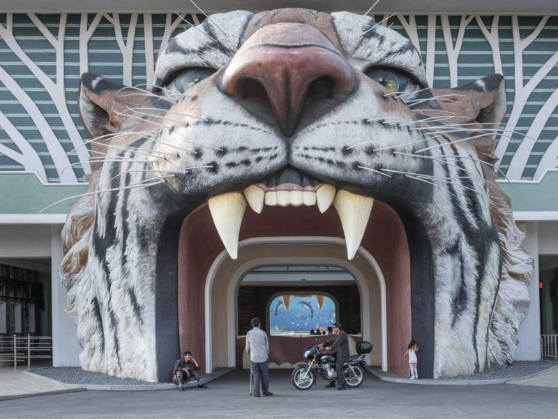 Carl De Keyzer - Into the tiger's mouth; entrance to the Pyongyang Zoo. 28 May 2017 5.00 PM