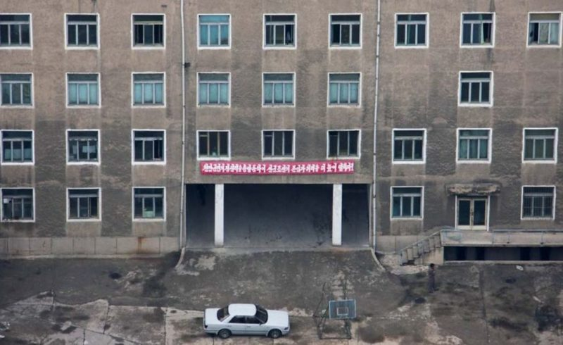 Eric Lafforgue – North Korea - Pyongyang is supposed to be the showcase of North Korea, so building exteriors are carefully maintained.  When you get a rare chance to look inside, the bleak truth becomes apparent