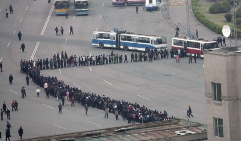 Eric Lafforgue – North Korea - Queuing is a national sport for North Koreans