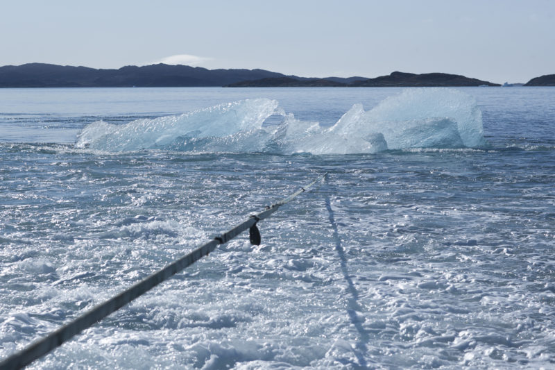 Harvesting ice floating in Nuup Kangerlua, Greenland, for Ice Watch in Paris, 2015