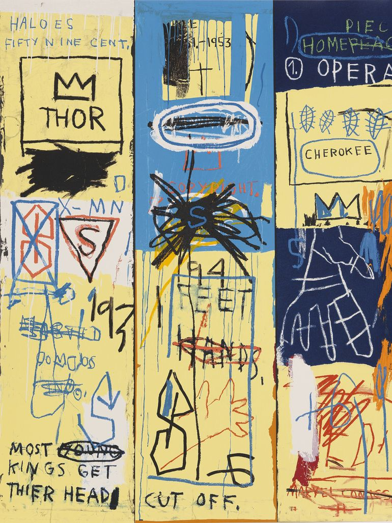 Basquiat's brilliantly-chaotic Charles the First painting