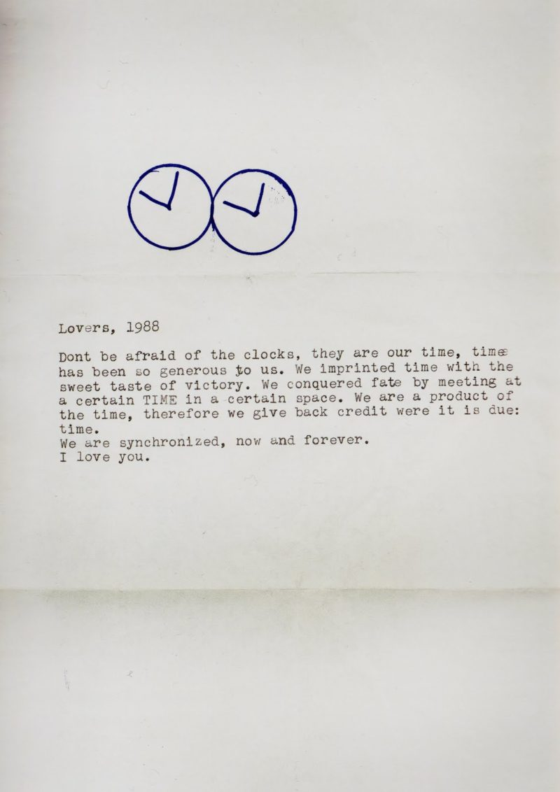 Letter from Felix Gonzalez-Torres to Ross from 1988