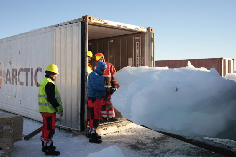 Loading ice at Nuuk Port and Harbour, Greenland