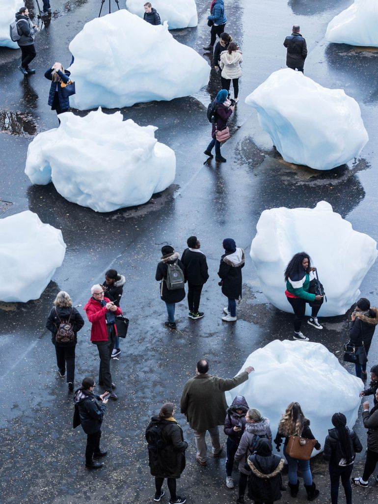 Olafur Eliasson's Ice Watch was slowly disappearing