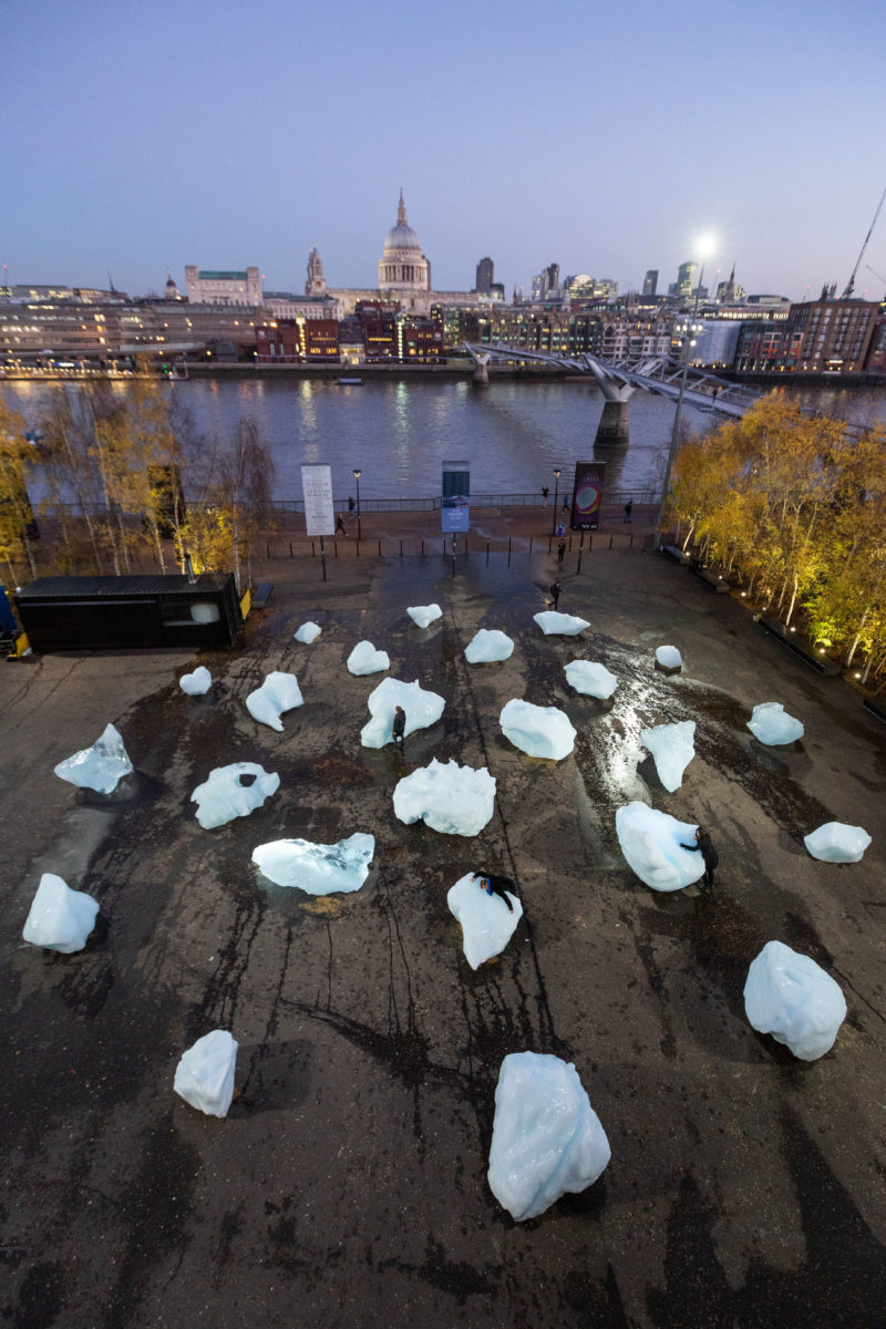 Olafur Eliasson - Ice Watch, 2018, Bankside, outside Tate Modern, London