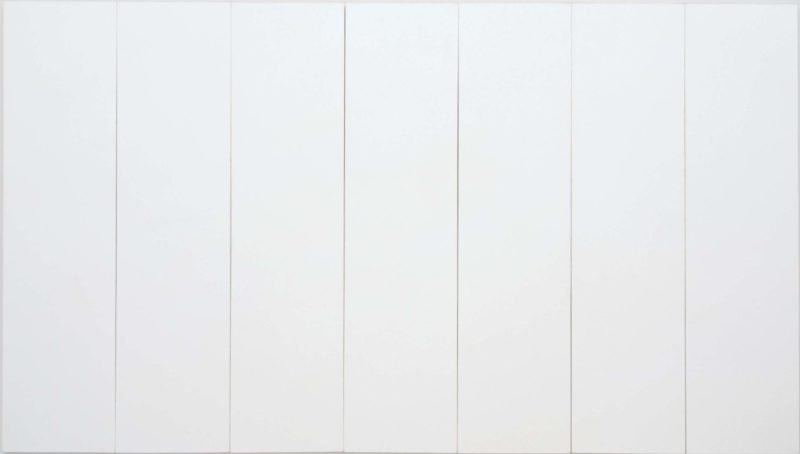 Robert Rauschenberg - White Painting (Seven Panel), 1951, oil on canvas, 182.9 x 317.5 cm (72 x 125 inches)