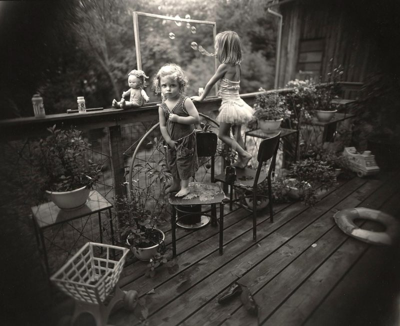 Sally Mann - Blowing Bubbles, 1987, from Immediate Family