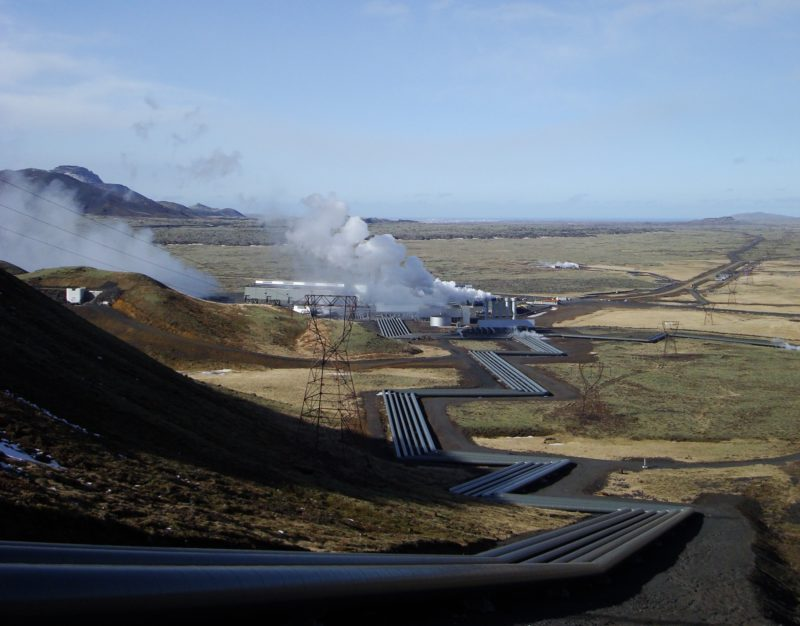 The electricity for the light is generated entirely naturally – geothermally – from hot water – at the Hellisheiði Geothermal Power Plant, the largest geothermal power station in the world. This was one of the reasons for situating the artwork in Iceland.