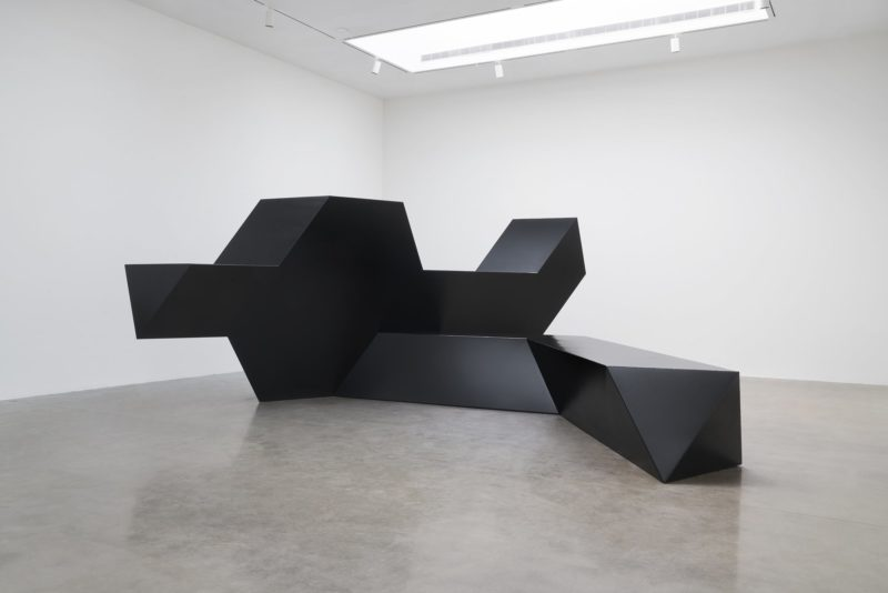 Tony Smith - Source, 1967, steel, painted black, 9' 5-1:2 × 25' 1:4 × 24' 5-3:8 (288.3 cm × 762.6 cm × 745.2 cm), overall, Edition of 3 + 1 AP
