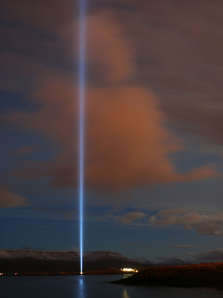 What is Yoko Ono's Imagine Peace Tower all about?