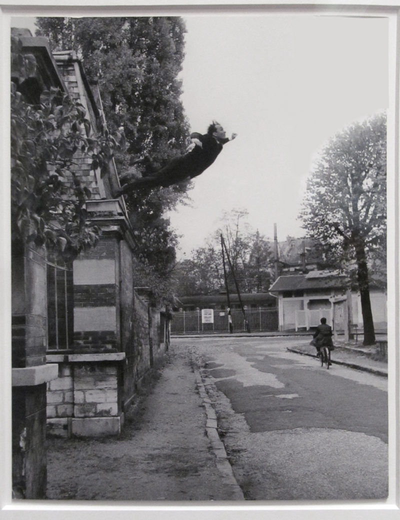 Yves Klein - Leap Into the Void, 1960, gelatin silver print, installation view, LACMA