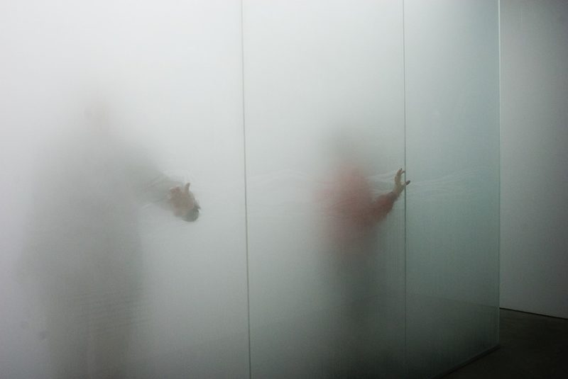 Antony Gormley - Blind Light II, 2007, fluorescent light, water, ultrasonic humidifiers, toughened low iron glass, aluminium, 320 x 858 x 858 cm, installation view, Sean Kelly Gallery, New York, USA, 2007