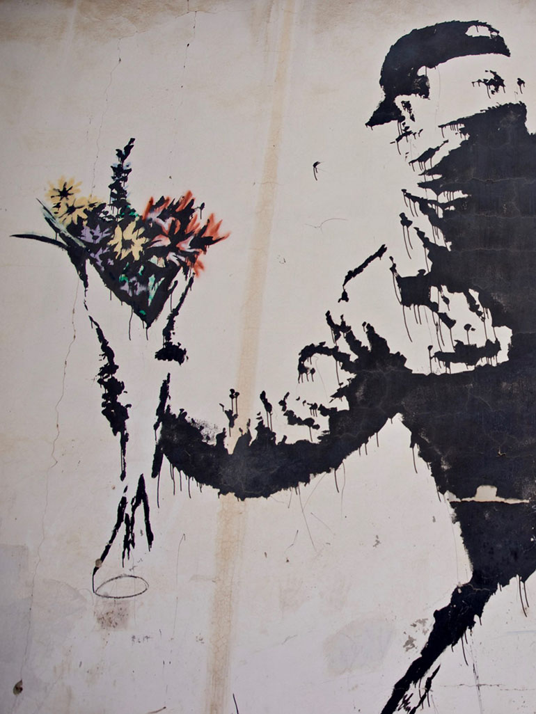 Banksy's Rage, The Flower Thrower - Everything you need to know