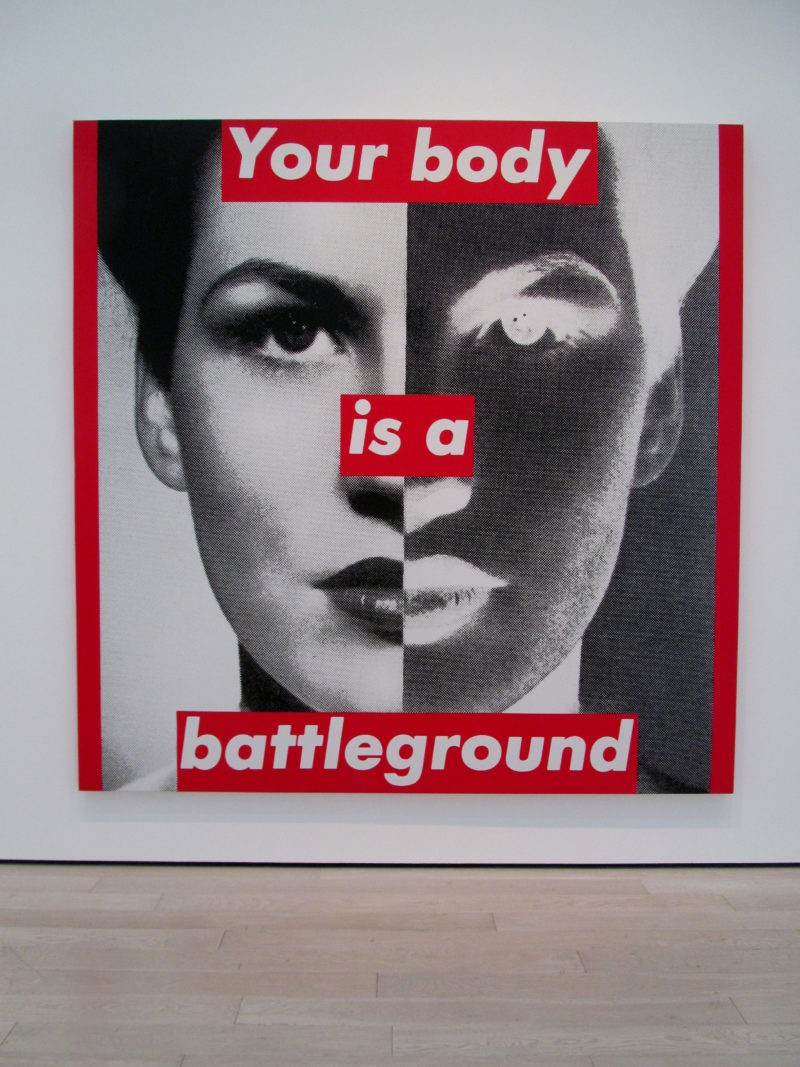 Barbara Kruger - Untitled, 1989, photo and silk screen, installation view, LACMA