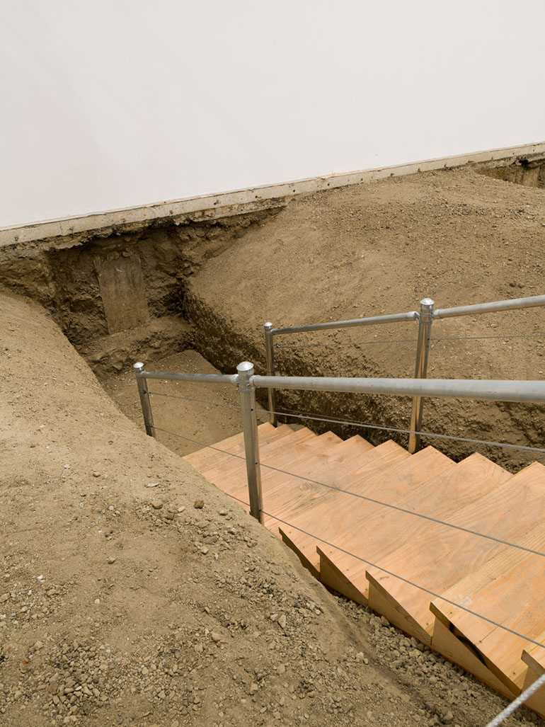 Chris Burden exposed the foundation of the museum