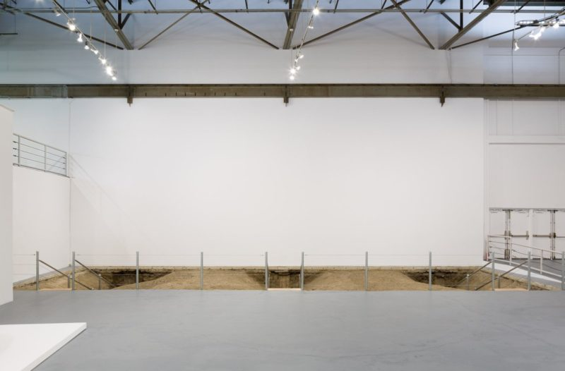 Chris Burden - Exposing the Foundation of the Museum, 1986/2019, installation view, MOCA, Los Angeles, 2019