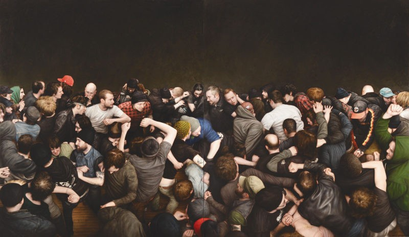 Dan Witz - ABC No Rio, 2011, oil and digital media on canvas, 56 x 96 in