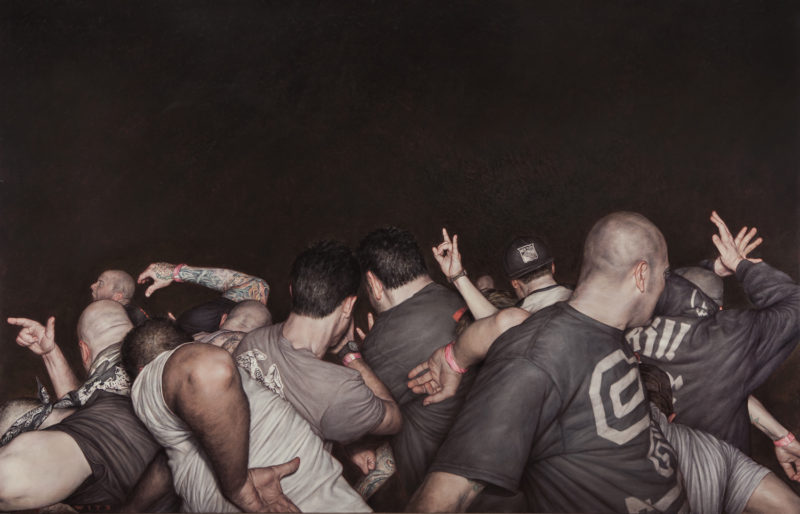 Dan Witz - Agnostic Front, 2014, oil on canvas, 48 x 76 in