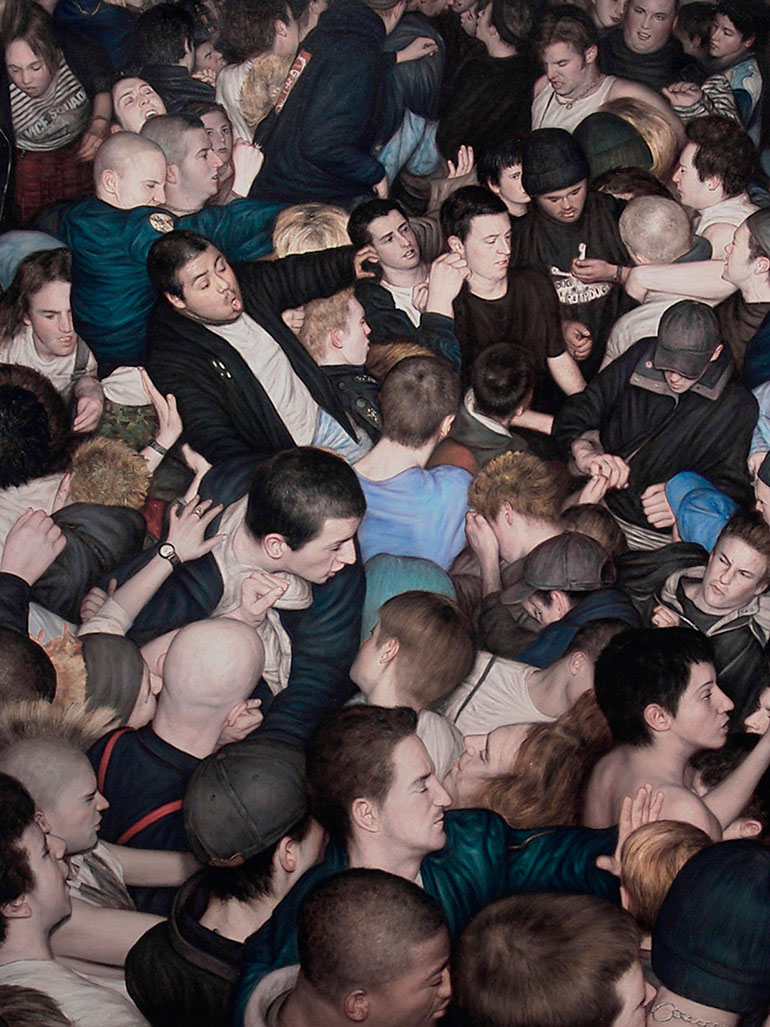 Beautiful chaos in Dan Witz' Mosh Pit paintings