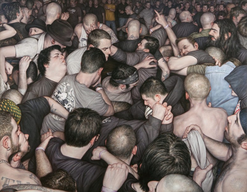 Dan Witz - Free For All, 2014, 42 x 54 in