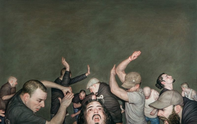 Dan Witz - Sick Of It All, 2015, oil on canvas, 49 x 77 in with frame