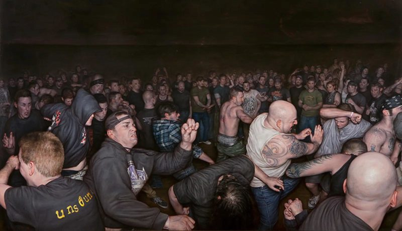 Dan Witz - Vision of Disorder, 2013, oil and digital media on canvas, 40 x 64 in