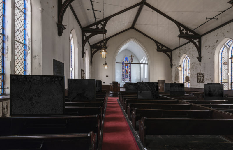 Dawoud Bey - Night Coming Tenderly, Black, 2017, installation view, St. John's Church, Cleveland Triennial for Contemporary Art, July 14-September 30, 2018