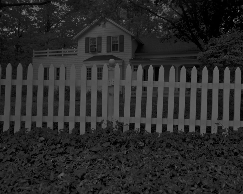 Dawoud Bey - Untitled #1 (Picket Fence and Farmhouse), from the series Night Coming Tenderly, Black, 2017
