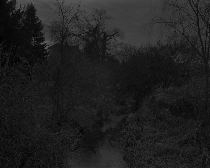 Dawoud Bey - Untitled #18 (Creek and House), from the series Night Coming Tenderly, Black, 2017
