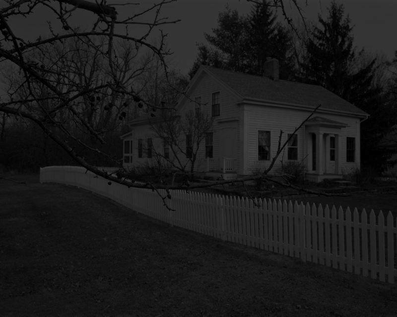 Dawoud Bey - Untitled #20 (Farmhouse and Picket Fence I), from the series Night Coming Tenderly, Black, 2017
