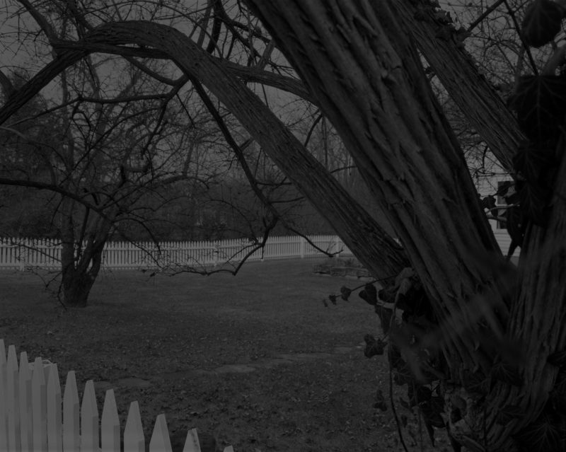 Dawoud Bey - Untitled #21 (Farmhouse and Picket Fence II), from the series Night Coming Tenderly, Black, 2017