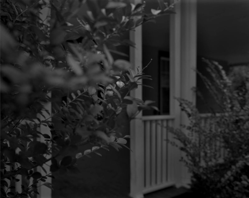 Dawoud Bey - Untitled #4 (Leaves and Porch), from the series Night Coming Tenderly, Black, 2017