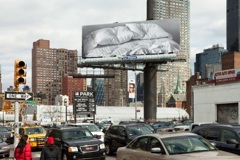 Felix Gonzalez-Torres - Untitled, 1991, installation view at 11th Avenue and 38th Street, Manhattan (February 20–March 18, 2012)