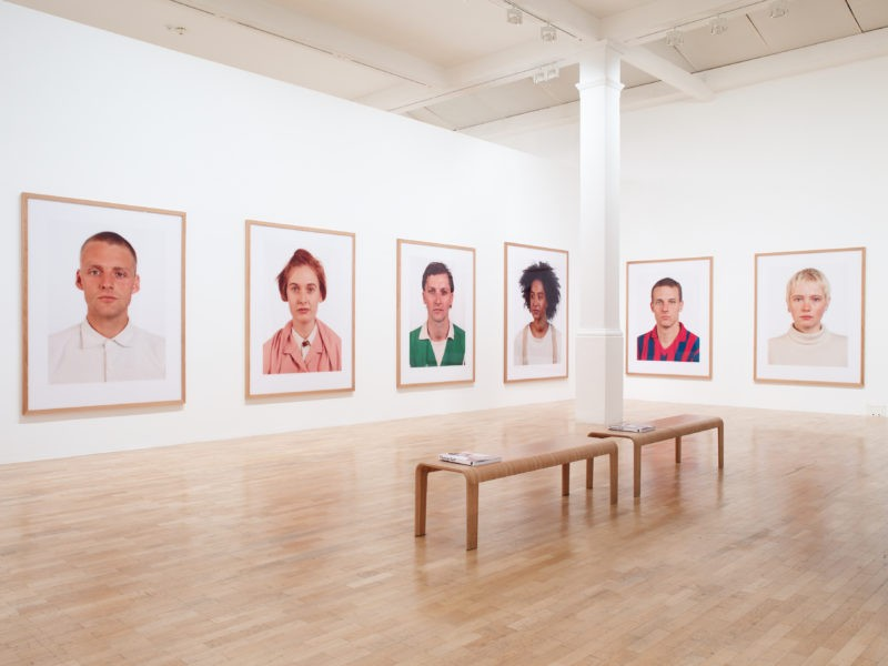 Installation view at the Whitechapel Gallery, Thomas Ruff- Photographs 1979 – 2017, Gallery 1, 27 September 2017 – 21 January 2018